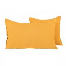 COUSSIN EN LIN 40X60 VITI CHAMOIS - Harmony Textile
