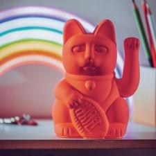 LUCKY CAT / WAVING CAT / NEON PINK 15X10.5CM - DONKEY