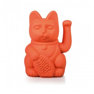 LUCKY CAT / WAVING CAT / NEON PINK 15X10.5CM