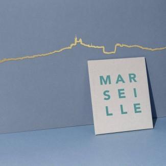 THE LINE FRISE DECORATIVE MARSEILLE GOLDEN THE LINE