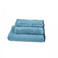 SERVIETTE DE TOILETTE INVITEE ISSEY BLEU STONE 30X50 CM - Harmony Textile
