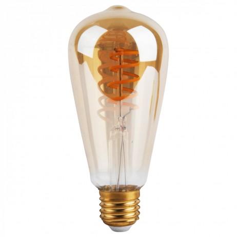 AMPOULE LED VINTAGE TWIST 4W E27 AMBRE D6,4 H14,3CM DIMMABLE