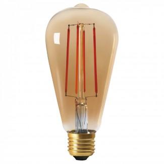 AMPOULE LED VINTAGE 8W E27 AMBRE D6,4CM DIMMABLE