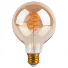AMPOULE LED GLOBE PM TWIST 4W E27 AMBRE D9,5 H13,6CM DIMMABLE