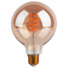 AMPOULE LED GLOBE GM TWIST 4W E27 AMBRE D12,5 H17,5CM DIMMABLE