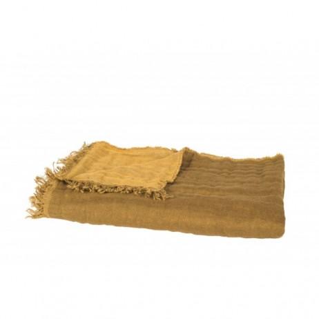 PLAID BAYA BRONZE/OR 135X200 - Harmony Textile