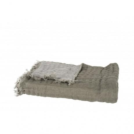 PLAID BAYA KAKI BETON 135x200 - Harmony Textile