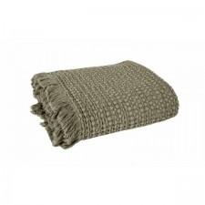 COUVRE LIT TEMPO II 180X260 KAKI - Harmony Textile