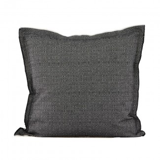 Pillowcase, CA, black/offwhite, 50x50 cm
