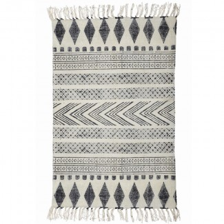 RUG BLOCK GREY/BLACK 60X90CM