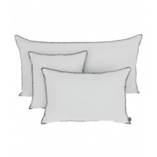 COUSSIN MANSA 40X60 BLANC 100% LIN LAVE - Harmony Textile