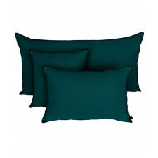 COUSSIN MANSA 40X60 BLEU DE PRUSSE 100% LIN LAVE - Harmony Textile
