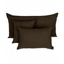 COUSSIN MANSA 40X60 CHARBON 100% LIN LAVE - Harmony Textile
