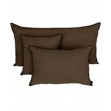 COUSSIN MANSA 40X60 BROWNIE 100% LIN LAVE - Harmony Textile