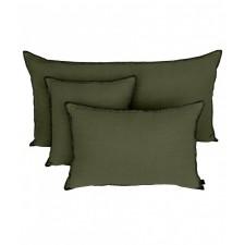 COUSSIN MANSA 40X60 KAKI 100% LIN LAVE - Harmony Textile