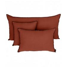 COUSSIN MANSA 40X60 BRICK 100% LIN LAVE - Harmony Textile