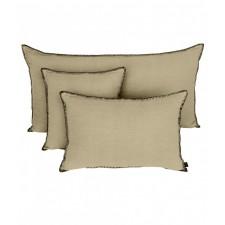 COUSSIN MANSA 40X60 NATUREL 100% LIN LAVE - Harmony Textile