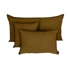 COUSSIN MANSA 40X60 BRONZE 100% LIN LAVE - Harmony Textile