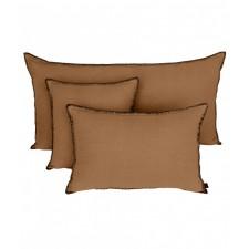 COUSSIN MANSA 40X60 TABAC 100% LIN LAVE - Harmony Textile