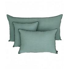 COUSSIN MANSA 40X60 CELADON 100% LIN LAVE - Harmony Textile