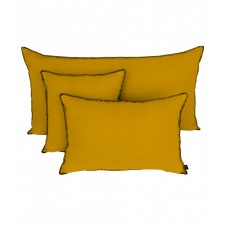 COUSSIN MANSA 40X60 SAFRAN 100% LIN LAVE - Harmony Textile