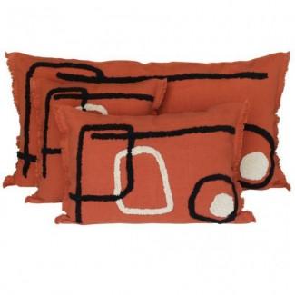 Coussin lin/coton TIKRI 45X45 Harmony Textile