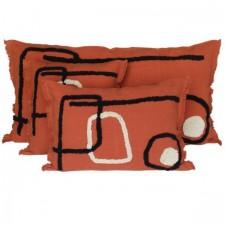 Coussin lin/coton TIKRI 45X45 - Harmony Textile