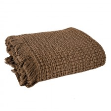 COUVRE LIT TEMPO II 180X260 TABAC - Harmony Textile