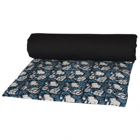 EDREDON EN VELOURS IMPRIME NATHAN 85X200 - Coloris Pétrole - Harmony Textile