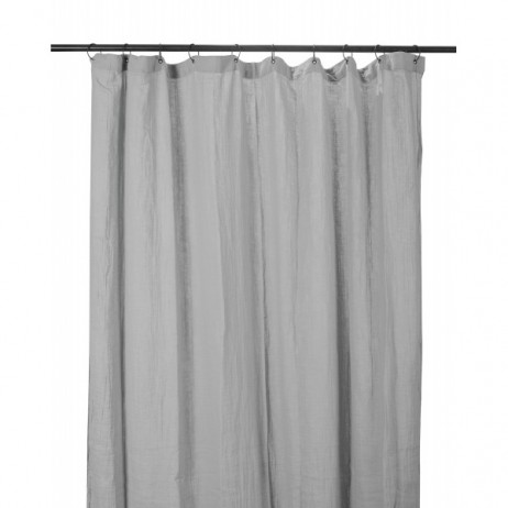 RIDEAUX COTON DILI 120X280 BROUILLARD - Harmony Textile