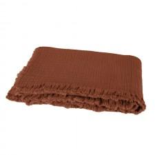 PLAID VANLY 130x190 BRICK - Harmony Textile