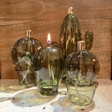 LAMPE A HUILE S CACTUS BOULE - BAZAR DELUXE