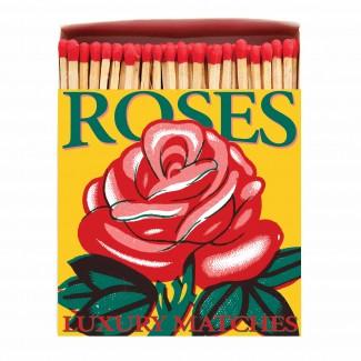 BOITE D'ALLUMETTES ROSE ROUGE ARCHIVIST