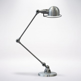 LAMPE A POSER SIGNAL SI333 2X30CM / ACIER BROSSE