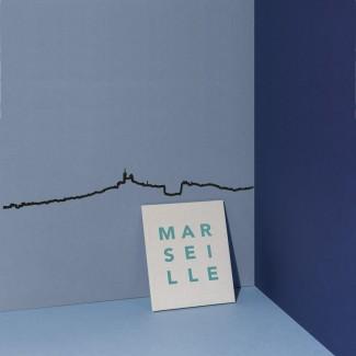 THE LINE FRISE DECORATIVE MARSEILLE XL BLACK 125CM THE LINE