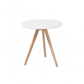TABLE RADIUS D50 H50 BLANC