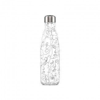 BOUTEILLE CHILLY'S 500ML LINE ART FACES