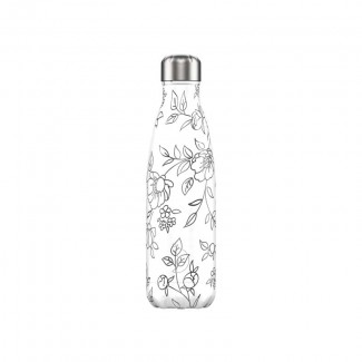 BOUTEILLE CHILLY'S 500ML LINE ART FLOWERS