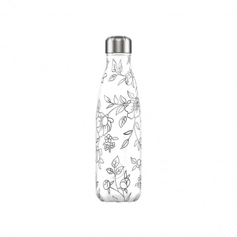 BOUTEILLE CHILLY'S 500ML LINE ART FLOWERS - CHILLY'S
