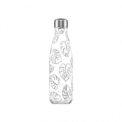 BOUTEILLE CHILLY'S 500ML LINE ART LEAVES - CHILLY'S