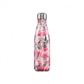 Bouteille isotherme inox 500ML TROPICAL/FLAMINGO CHILLY'S