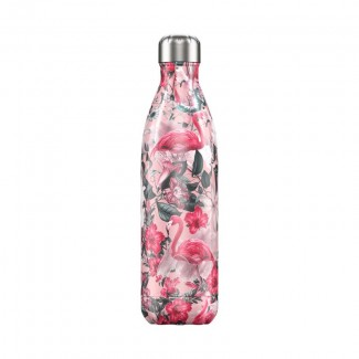 Bouteille isotherme inox 750ML TROPICAL/FLAMINGO CHILLY'S