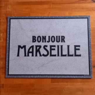 Set de table vinyle BONJOUR MARSEILLE 33X45 Pôdevache