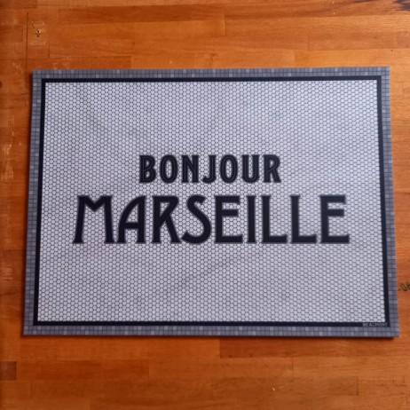 SET DE TABLE BONJOUR MARSEILLE 33X45 - Pôdevache