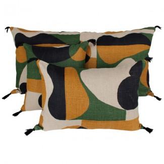 Coussin lin NIDO SAFRAN 45X45 Harmony Textile