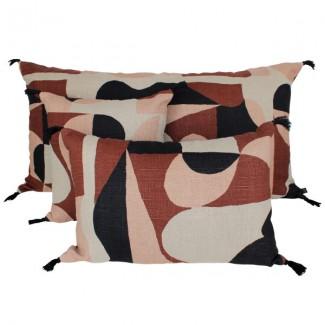 Coussin lin NIDO NOISETTE 55X110 Harmony Textile