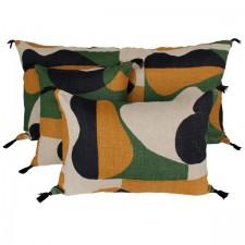 Coussin lin NIDO SAFRAN 55X110 - Harmony Textile