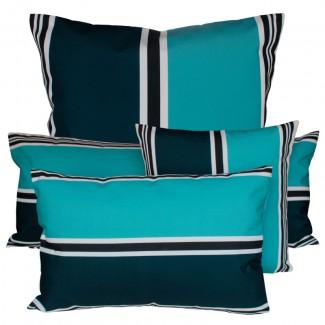 COUSSIN D'EXTERIEUR SWAN BLEU DE PRUSSE Harmony Textile