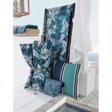 COUSSIN D'EXTERIEUR KIWALE INDIGO - Harmony Textile