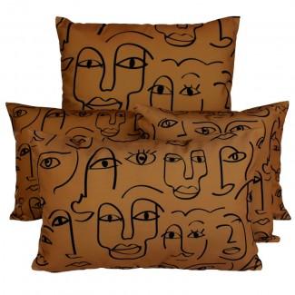 COUSSIN D'EXTERIEUR DAKHLA TABAC Harmony Textile